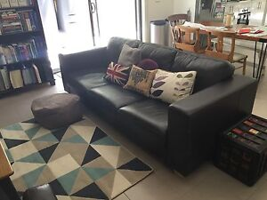 3 seater leather sofa from John Lewis (UK) Moorabbin Kingston Area Preview