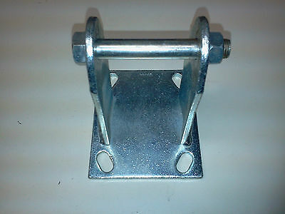 New 6 Inch Caster Wheel Non Swivel Mounting Bracket Assembly