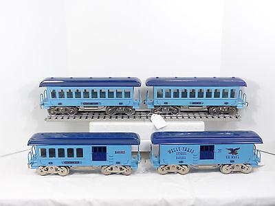 McCoy Standard Gauge Light & Dark Blue 4 Car Passenger Set Light Kit & Boxes