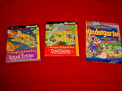 2 MAGIC SCHOOL BUS: Dinosaurs & Solar System: 1 Kindergarten reader rabbit's CDs