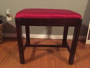Red and Dark Wood Stool