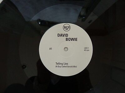 "DAVID BOWIE - TELLING LIES RARE 1996 2X12"" PROMO-ONLY VINYL SINGLES"