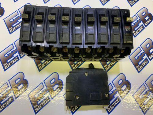 SQUARE D QO120, 20 AMP 120 VOLT, BLACK CIRCUIT BREAKER,(1) LOT OF (10)- WARRANTY