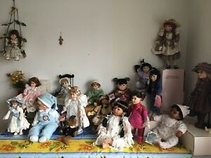 Assorted collectors Porcelin dolls