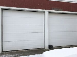 Two 9' x 9' garage doors