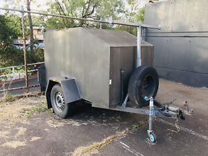 Unregistered enclosed trailer