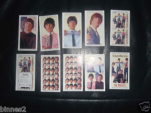 THE-BEATLES-THE-MILLION-SELLERS-EP-WARUS-TRADING-CARDS-FULL-SET-OF-TEN-MINT