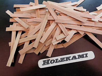 50 Holzleisten Kirsche 50mm x 8mm x 0,6mm  L/B/H   Neu