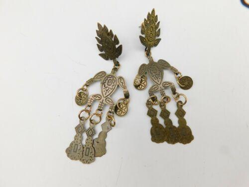Vintage Inspired Charm Dangle Earrings Figural Articulated Tribal Ethnic BOHO