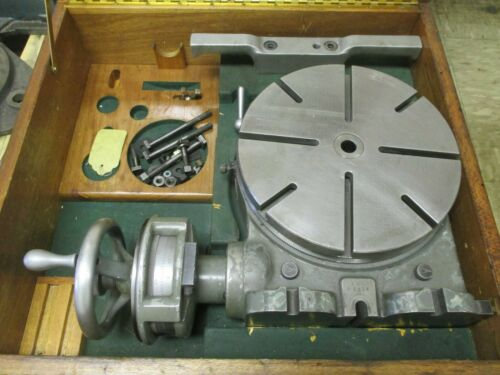 """USED 11"""" Moore Vertical-Horizontal Ultra-Precision Rotary Table in Case (SR)"""