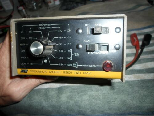 B&K Precision Model 2901 R/C PAK Resistor and Capacitor Tester Checker w/Leads