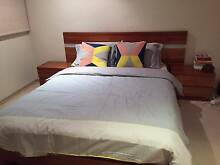 Queen Sized Bed + Two bedside tables with drawers Brunswick East Moreland Area Preview