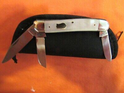Vintage E. Bruckmann Knife. MOP Med. Stockman. Unused. Excellent Pre WWII