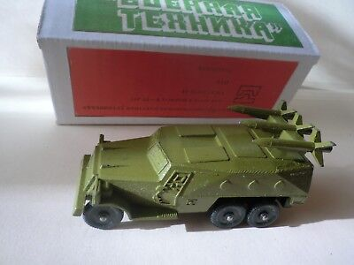 -  RUSSIAN USSR Die cast military armored vehicle with anti-tank missiles