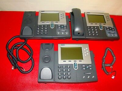 Lot Of 3 Cisco 7961 Ip Phone Cp-7961g 7900 Series Voip Parts Only As Pictured
