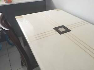 Marble Top Dining Table plus 3 dining chairs Brighton Brisbane North East Preview