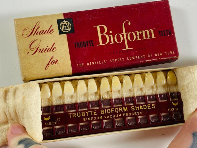 Vintage Bioform Trubyte Tooth Teeth Shade Guide Dentist Dental in Box