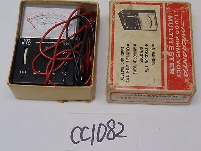 Vintage Micranta Multimeter 1000 Ohmsvolts Radio Shack In Box 22-027a Tandy