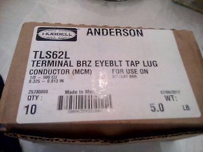 24each Hubbell Tls62l Bronze Eyebolt Tap Terminallug Use On 34 Flat Bar No-tax