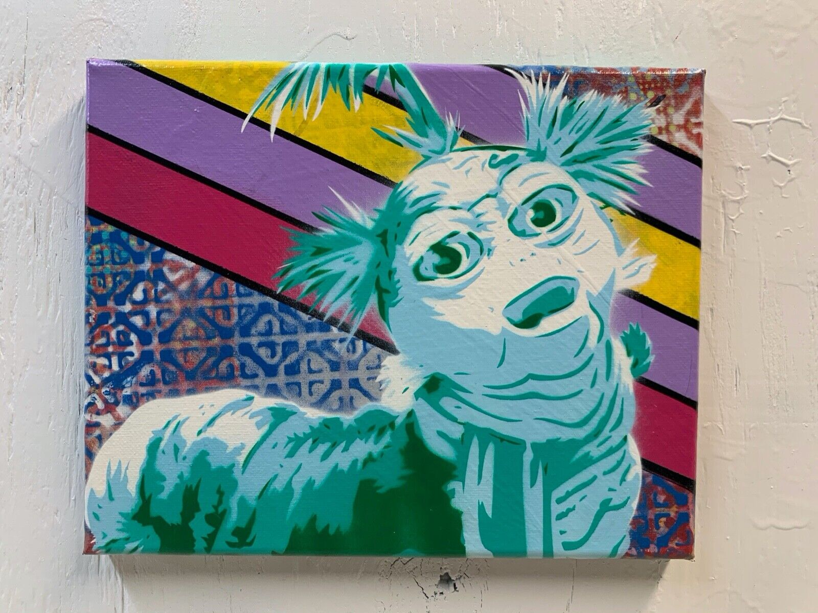 Labyrinth 8 x10 x1 Painting On Canvas - Worm Movie Art Bowie Fantasy 80s Book - $50.00