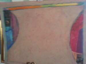 Leya Evelyn Original Abstract Painting - Listed Artist 90% Off