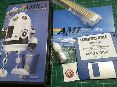 """Low cost 3.5"""" Floppy Disk Drive Head Cleaner Kit for Commodore Amiga by AMI64"""