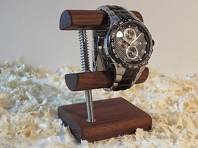 Nussbaumholz Uhrenständer Uhrenaufsteller Uhrenhalter Uhrendislay Uhr Aufsteller