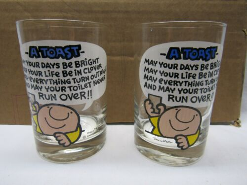 "ZIGGY ""A TOAST""  GLASSES VERY RARE 70"