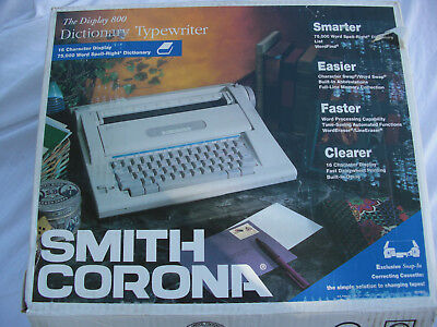 Smith Corona Display 800 Dictionary Typewriter With The Original Box And Manual