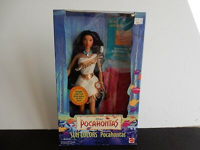 Sun Colors Pocahontas Doll-Disney-Mattel #13328 from 1995, NIB