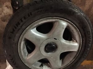 195/60 R15 winter tires with mags  (5 bolds X114.3 mm)