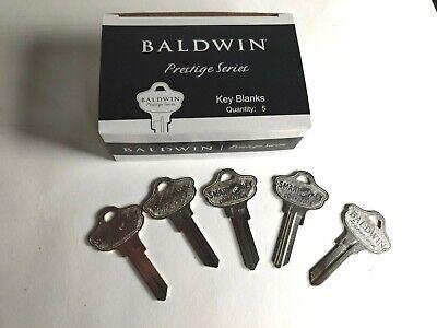 5 New Baldwin Prestige Series Kwikset Kw1 Kw11 Blank Key - Smart Key Modl 41570
