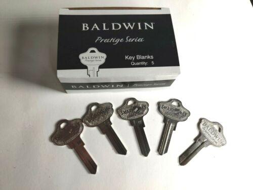 5 NEW BALDWIN PRESTIGE SERIES Kwikset KW1/ KW11 BLANK KEY - SMART KEY MODL 41570