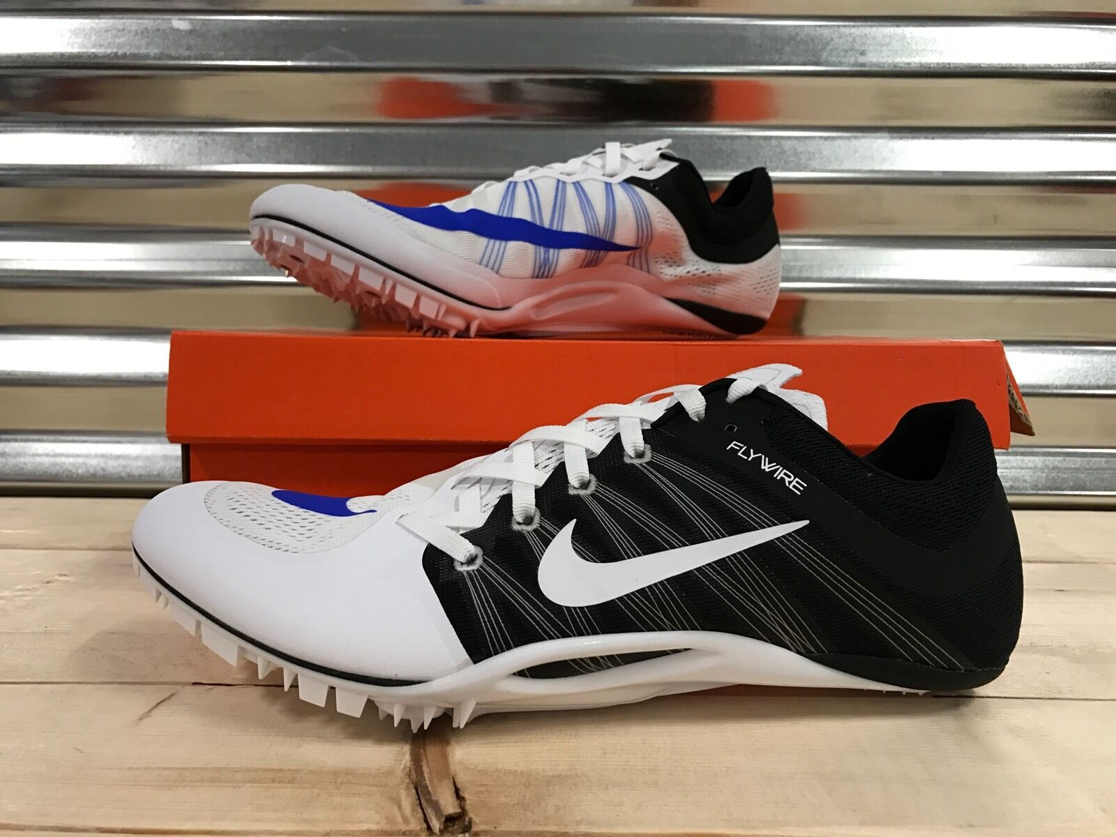 buy popular c9f5c 77f58 Nike Zoom JA Fly 2 Running Track Spikes Shoes White Racer Blue SZ (  705373-100 )