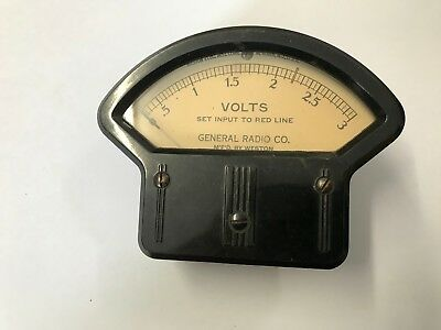 Weston 892 Meter Volts For General Radio By Weston Set Input To Red Line E010