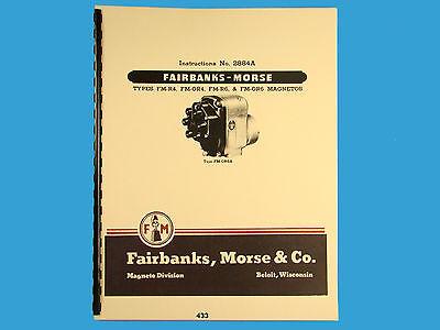Fairbanks Morse Magneto Instruct Parts Manual Fm-r4 Fm-or4 Fm-r6 Fm-or6 433