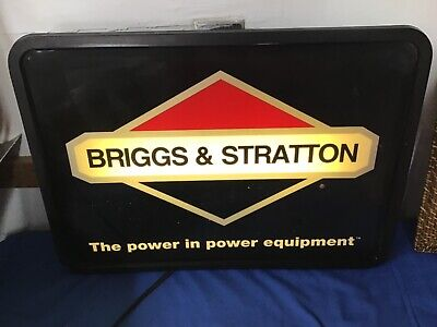 Briggs and Stratton Hanging Lighted Sign