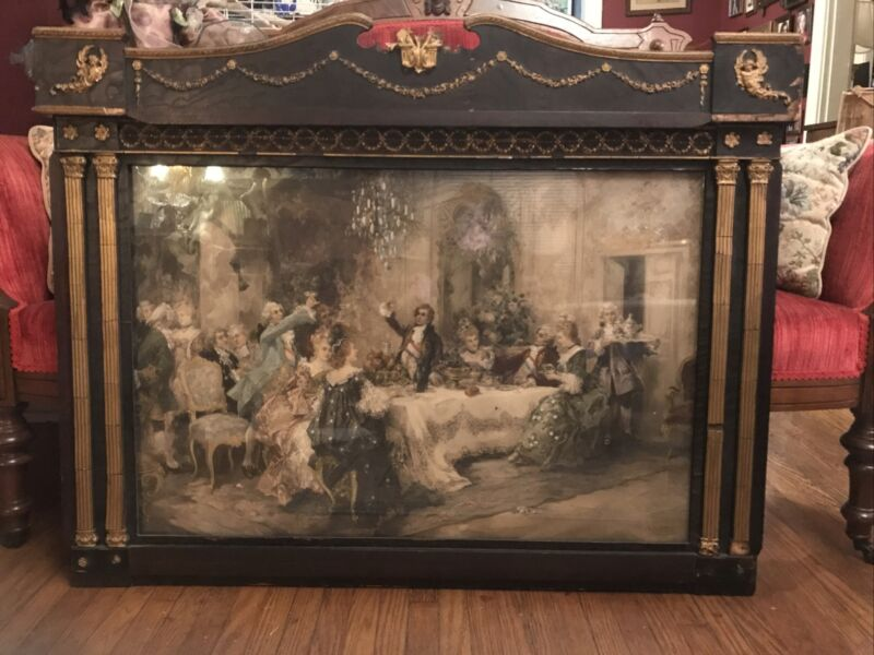"""Favorite Party Of Louis XV At Choisy V. Paredes Empire Revival Frame 37x29"""""""