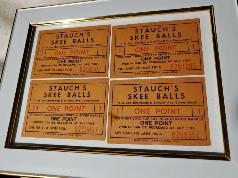 4 Vintage Original Coney Island NY Stauch