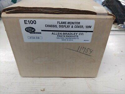 Fireye E100 Flame Monitor Chasis Display And Cover 120v