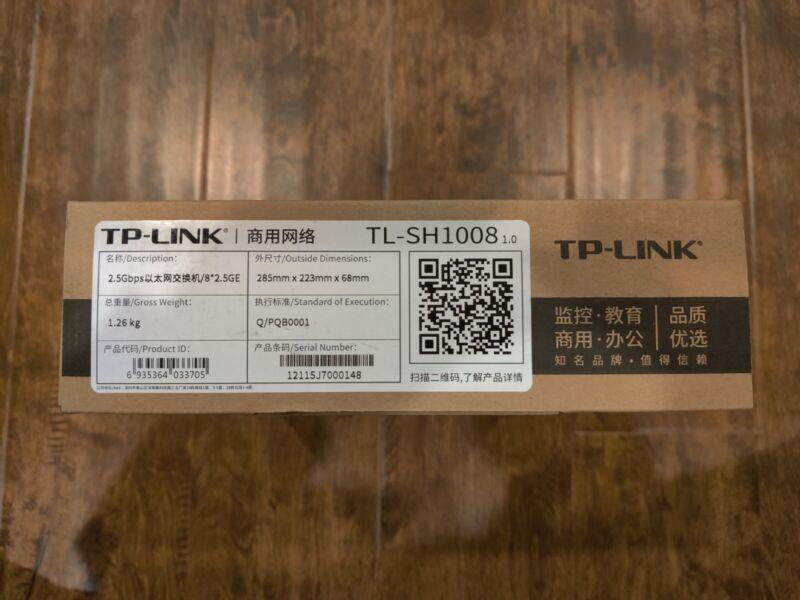 TP-Link 2.5G Ethernet Switch 8 Ports 2500Mbps TL-SH1008