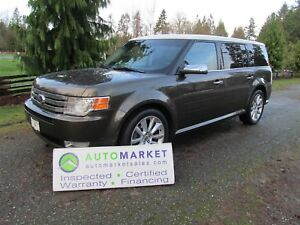 2011 Ford Flex LIMITED, AWD, NAV PANO ROOF, INSP, FREE WARRANTY,