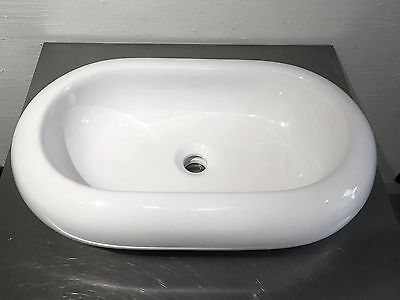 Decolav Counter Lavatory Sink - Decolav 1485-CWH Oval Vitreous China Above-Counter Vessel Sink, White