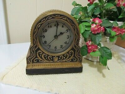 Best Lamp Co./Hammond powered shelf clock/alarm,lighted,completely serviced.