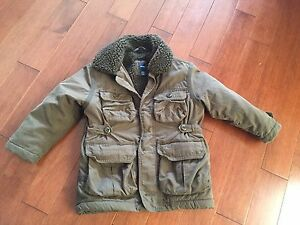 Boys GAP brown winter coat size XS 4-5- $10