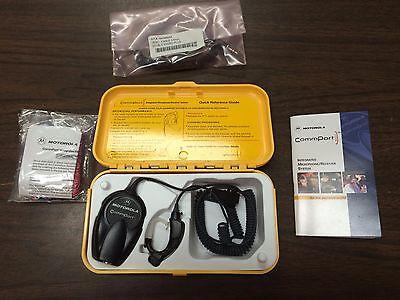 Newoem Motorola Ntn1625 Comport Ear Microphone System W Ptt Apx 7000 6000