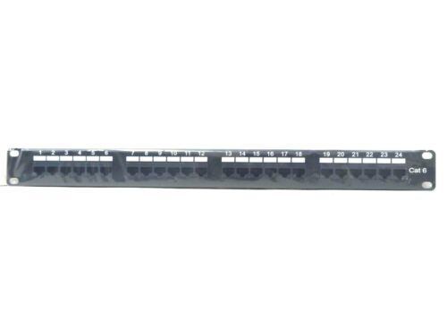 Cat.6 110 Type Patch Panel 24 Port Rackmount, Free Shipping.