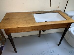 Sink in old kitchen table - vintage one of a kind custom