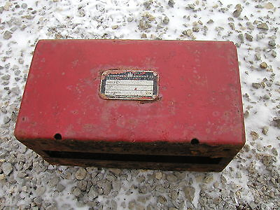 Farmall C Sc Tractor Ih Tool Box Mounting Seat Base Good Ih Serial Tag Clips
