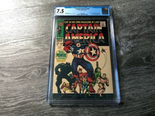 CAPTAIN AMERICA #100 CGC 7.5 OW/WH PAGES